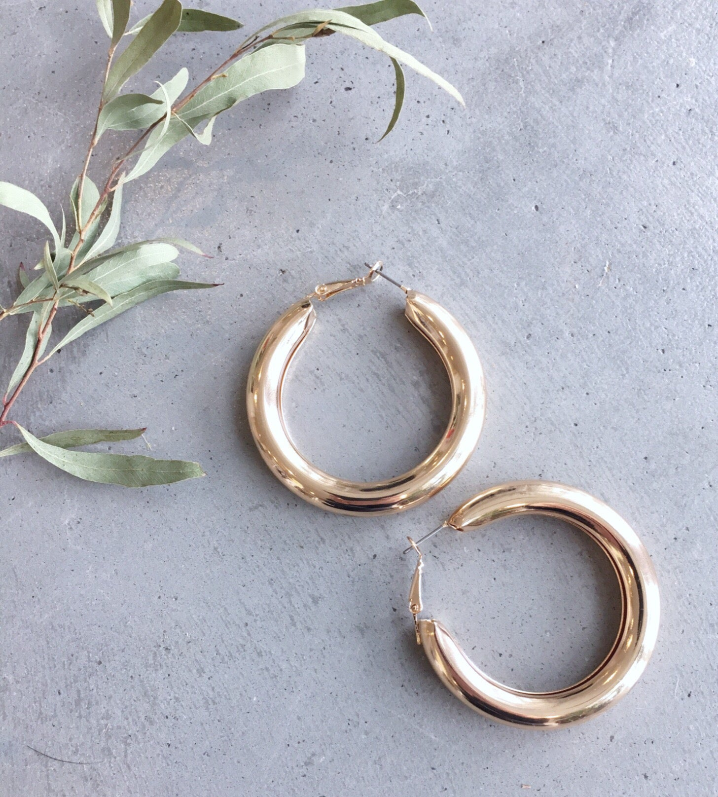 Gold Bubble Hoop