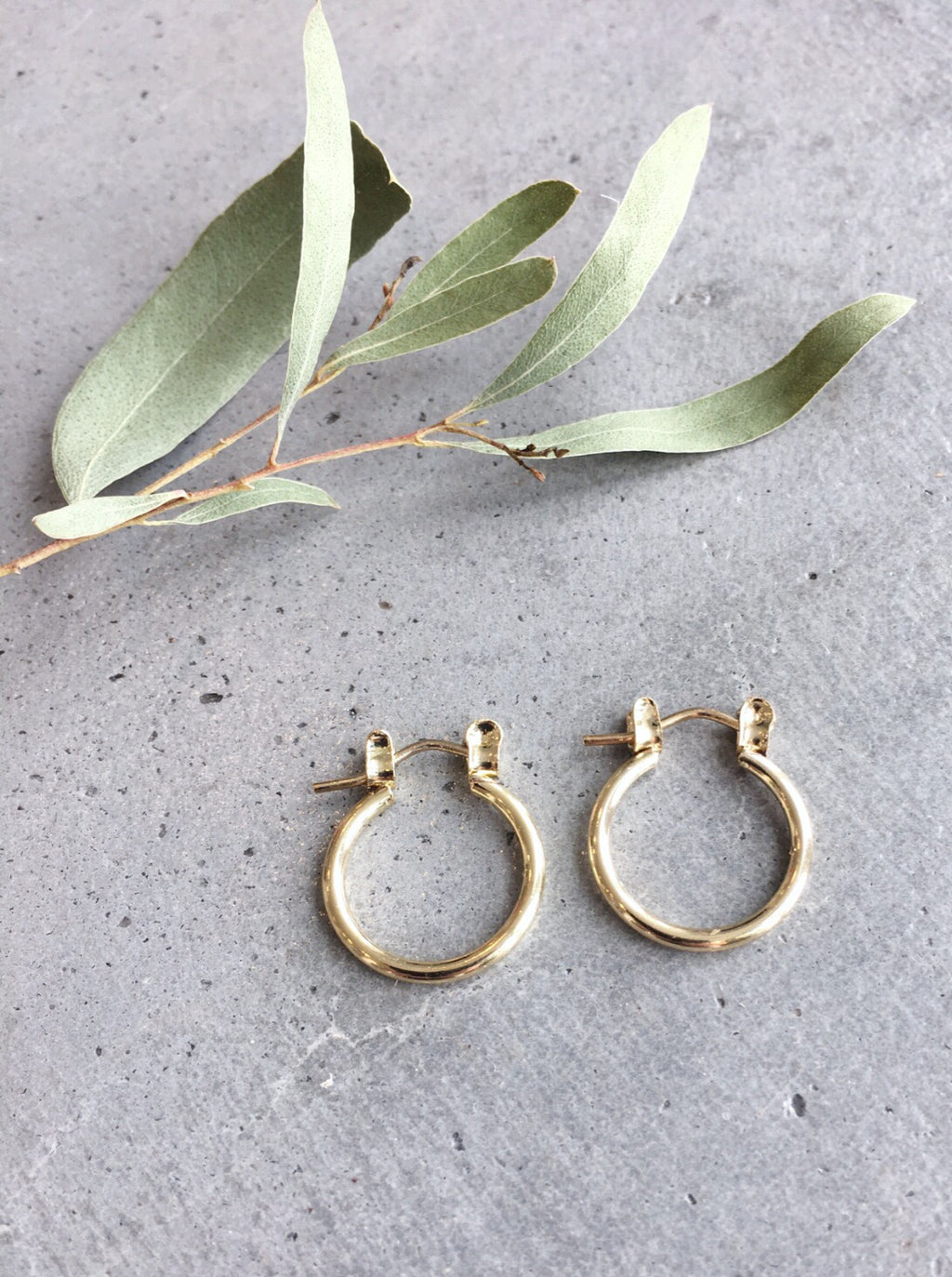 Gold Mini Hoop