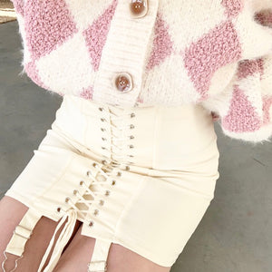 Cream Corset Skirt