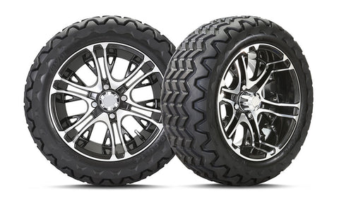 "14"" FLAT BLACK MERCURY WHEEL & 23x10-14 KRAKEN® ALL TERRAIN TIRE COMBO"