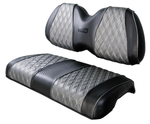 Club Car Black & Silver Front Seat Cover