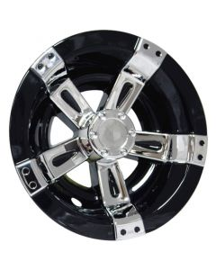 "8"" Machined Black Wheel Cover"