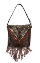 Load image into Gallery viewer, Montana West Signature Monogram Front Fringe Western Hobo Purse