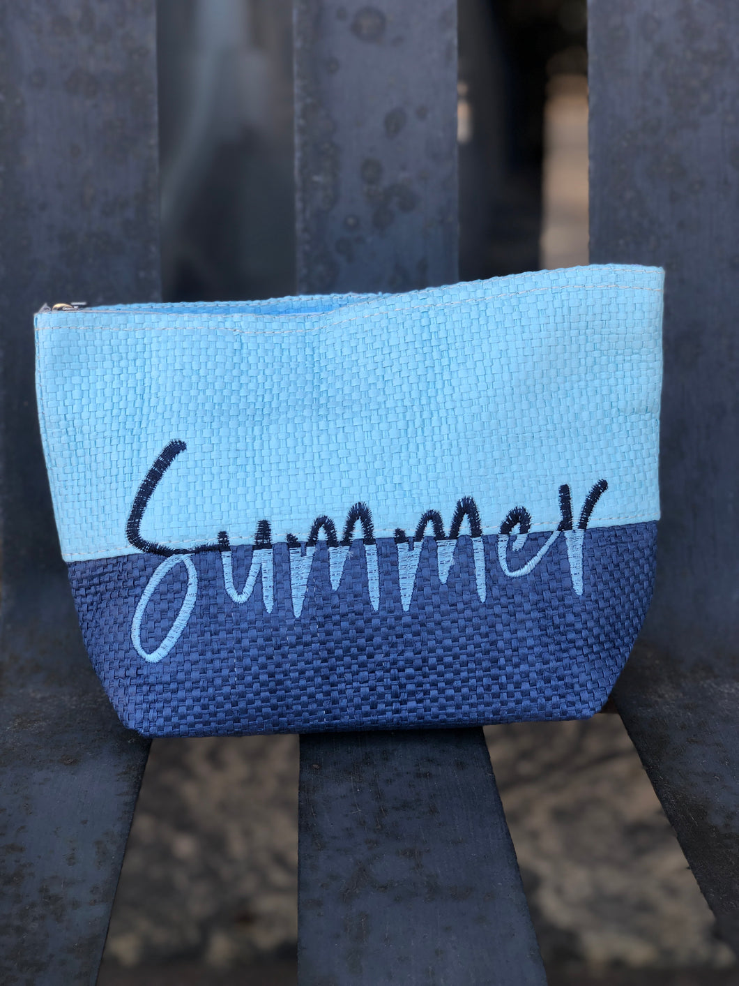 Blue Summer Makeup Bag
