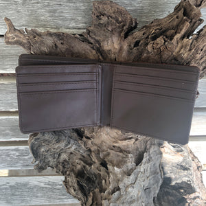 Men's Faux Ostrich Longhorn Horseshoe Wallet
