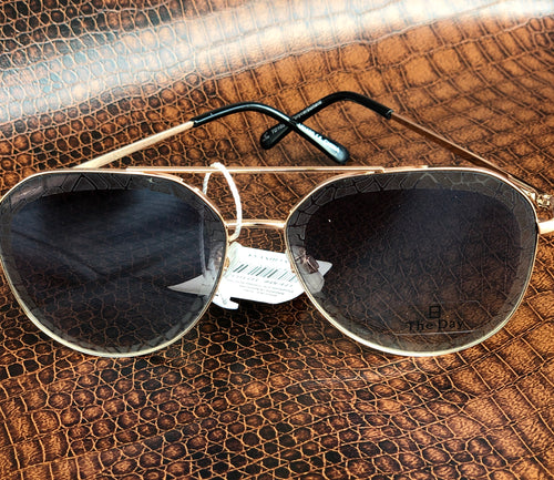 The Day Gold Aviator Style Sunglasses