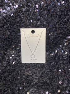 Rhinestone CZ Circle Necklace