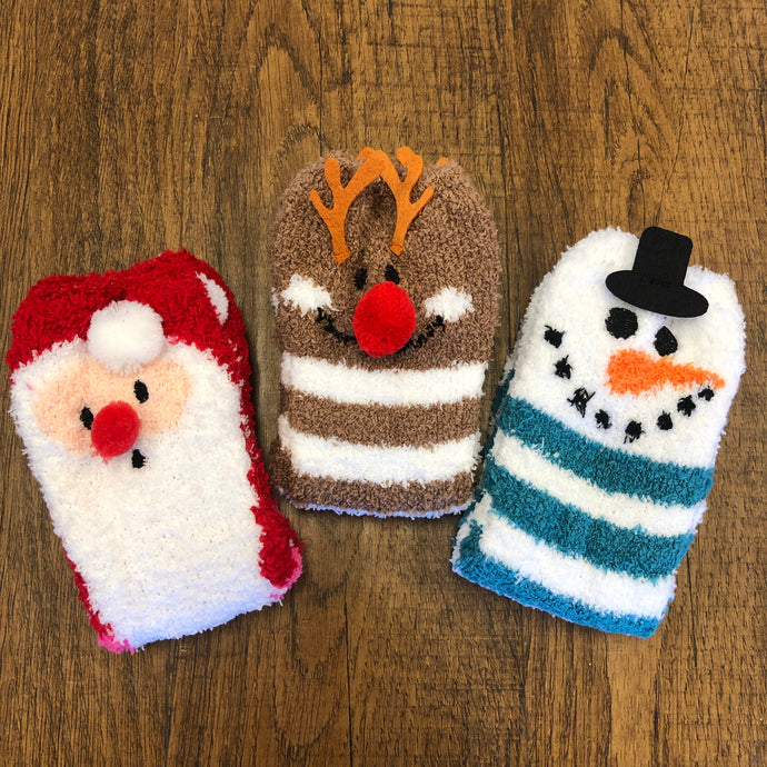 Cozy Cuties Fuzzy Christmas Socks