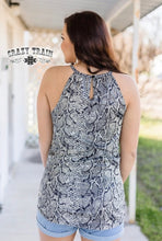 Load image into Gallery viewer, Snake Print Sly To Me Twist Tank