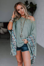 Load image into Gallery viewer, Fallon Embroidered Sleeve Kimono - ONE SIZE