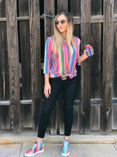 Load image into Gallery viewer, Serape Criss Cross Neck Tunic