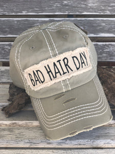 Distressed Tan Bad Hair Day Cap