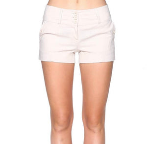 Natural Trouser Linen Mix Shorts