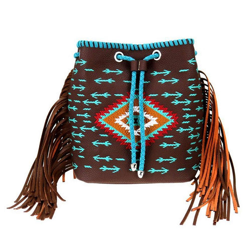 Brown Aztec Montana West Backpack