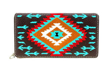 Load image into Gallery viewer, Brown Aztec Montana West Wallet