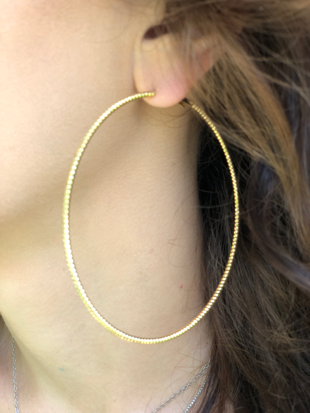 Gold Dipped Round Hoop Earrings