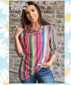 Serape Criss Cross Neck Tunic
