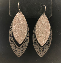 Load image into Gallery viewer, Glitter 2 Layered Bali Dangle Earrings
