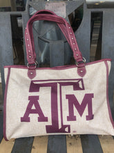 Load image into Gallery viewer, Texas A&M Burlap Tote