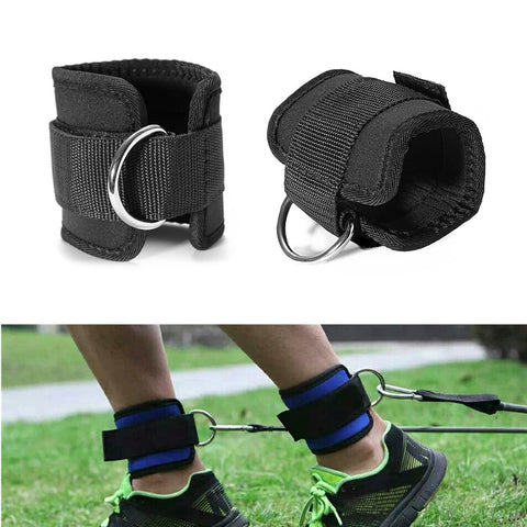 1 Pair Resistance Band D-ring Ankle Straps - Lifester