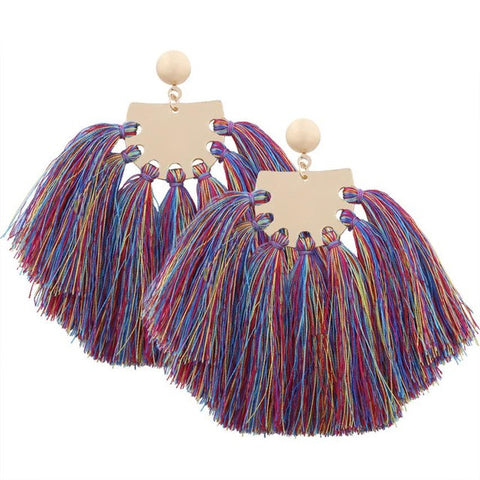 Bohemian Earrings Women Long Tassel