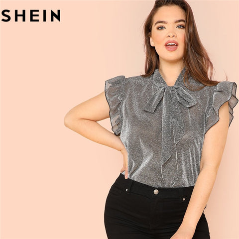 Sleeveless Elegant Office Lady Solid Top Blouse