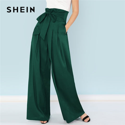 High Waist Minimalist Wide Leg Pants