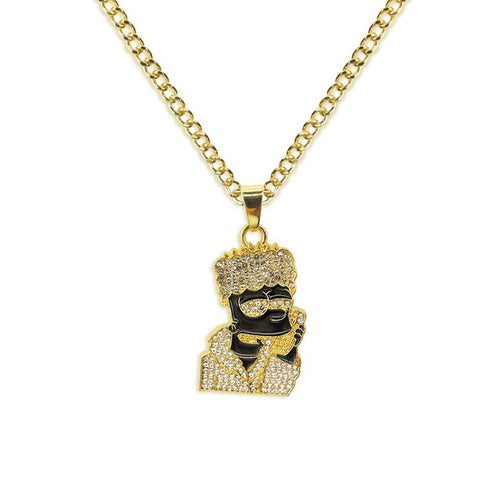 Iced Out Bart Pendant