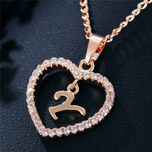 Load image into Gallery viewer, A-Z Initial Heart Shaped Necklace