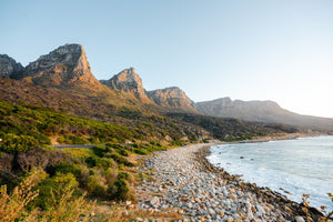 The twelve apostles mountains during sunset at beach