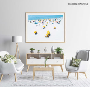 Summer day on Camps Bay beach in Cape town in a natural fine art frame