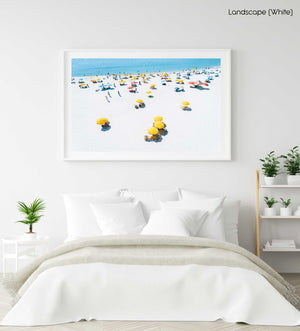 Summer day on Camps Bay beach in Cape town in a white fine art frame