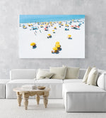 Summer day on Camps Bay beach in Cape town in an acrylic/perspex frame