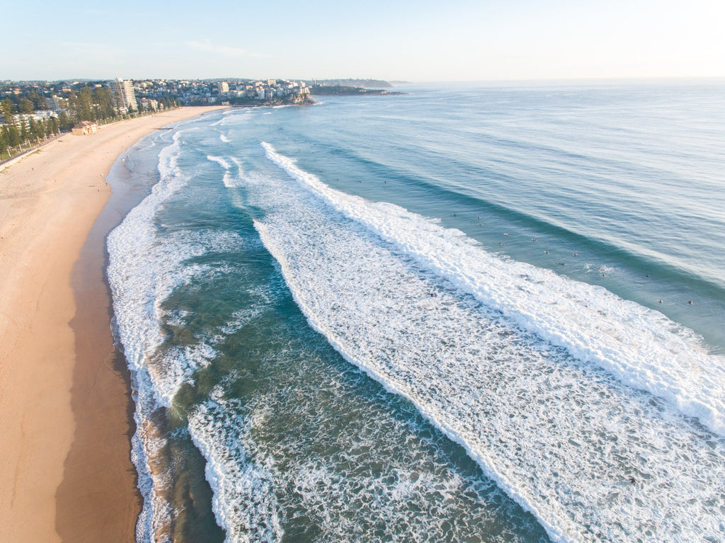 Aerial of Manly Beach in Sydney