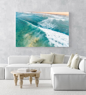 Wave whitewash from behind at Manly Beach Sydney in an acrylic/perspex frame