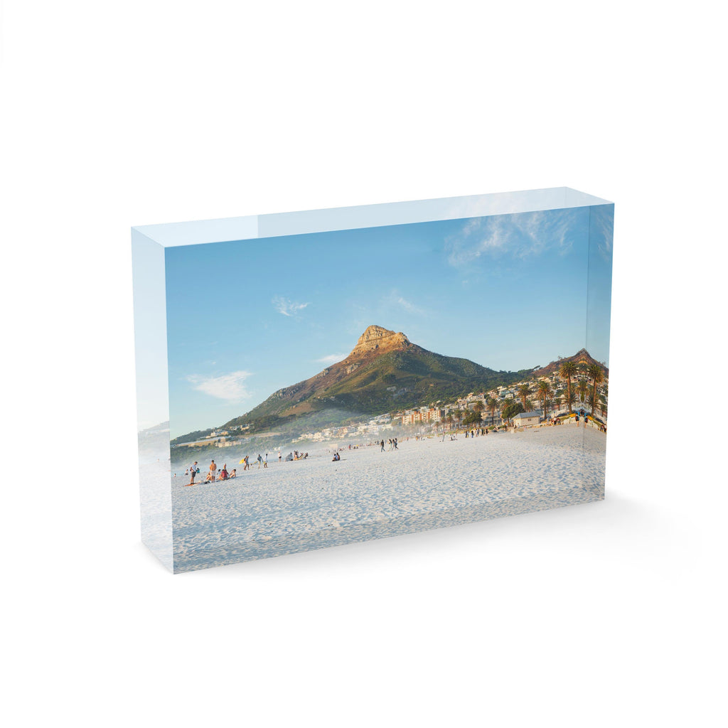 Lions Head mountain from Camps Bay Beach in Cape Town