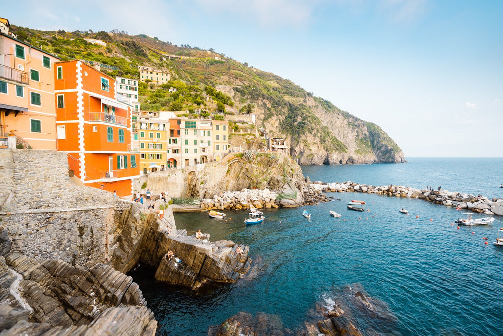 Colorful buildings of Riomaggiore along Cinque Terre coast