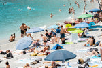 Busy beach day in Cinque Terre