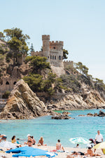 Castle at Lloret de Mar beach in Spain