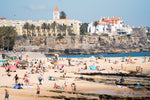 Beach scene along Cascais coast
