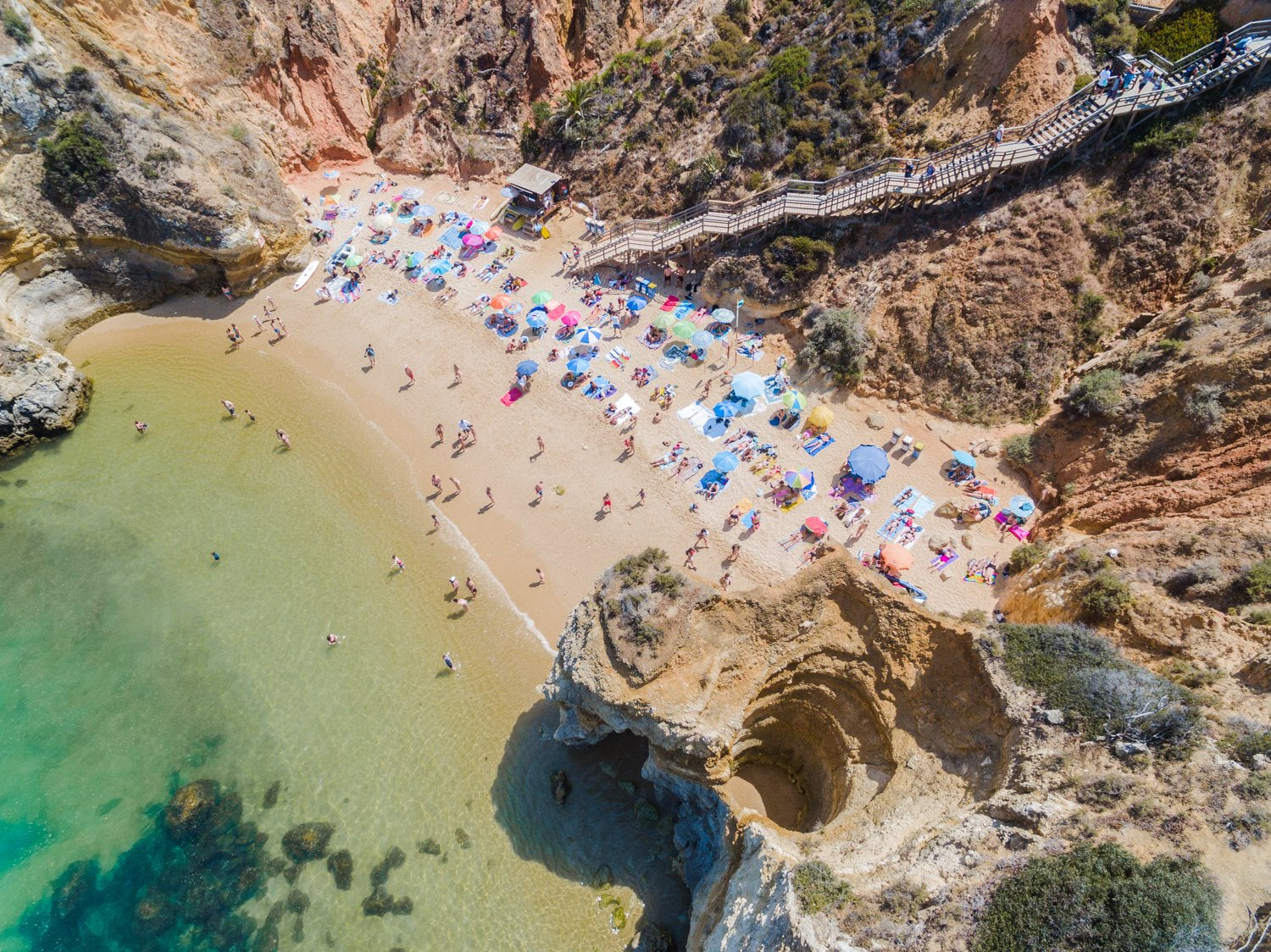 High above Praia do Camilo in Lagos Portugal