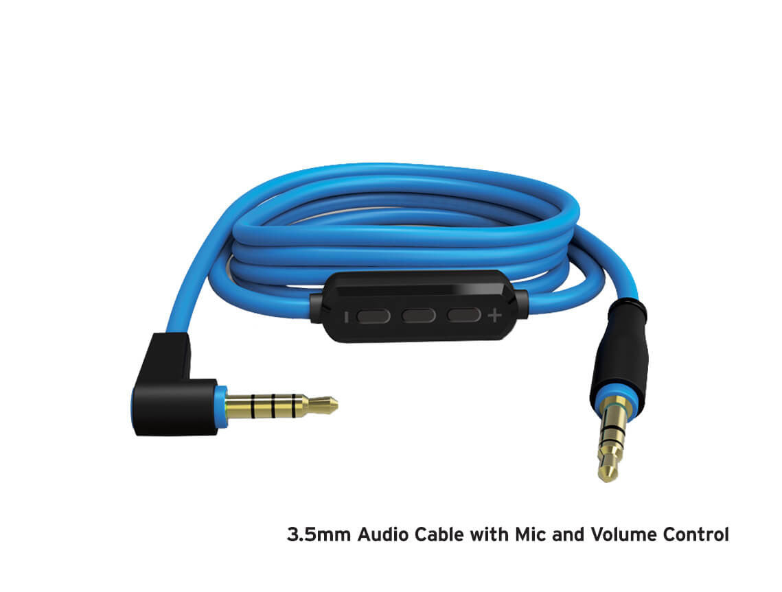 3 5mm Audio Cable with Mic and Volume Control