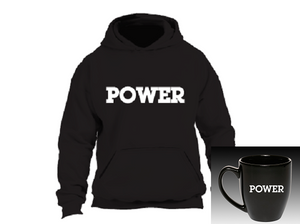"""POWER"" Bistro Hoodie Bundle:  POWER Hoodie + POWER Bistro Mug"