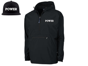 """POWER"" Limited Edition Bundle:  POWER Rain Jacket + POWER Snapback Hat- SIRE SPIRITS VIP"