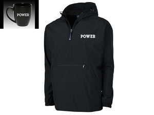 """POWER"" Limited Edition Bundle:  POWER Rain Jacket + POWER Bistro Mug"