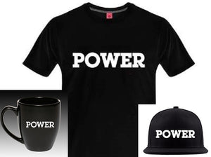 """POWER"" Limited Edition Bundle:  POWER Tee + POWER Snapback Hat + POWER Bistro Mug"