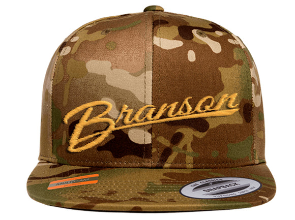 Branson Embroidered Camo Snapback Hat