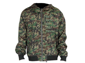 """Get Rich or Die Tryin"" Camo Jacket"