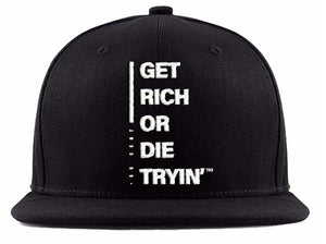 """Get Rich or Die Tryin"" Snapback Hat"