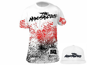 """The Massacre"" Limited Edition Bundle:  Massacre White Tee + Massacre Snapback Hat"